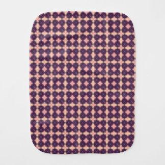 Purple Kaleidoscope Pattern Burp Cloth