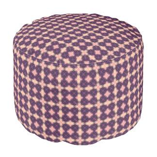 Purple Kaleidoscope Pattern Pouf