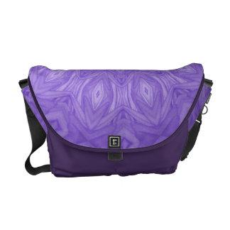 Purple Kaleidoscope Rickshaw Messenger Bag