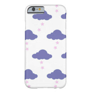 purple kawaii clouds iphone case