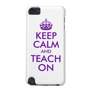 Purple Keep Calm and Teach On iPod Touch 5G Covers