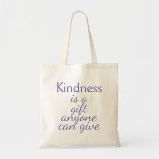 "Purple ""Kindness is a gift anyone can give"" Tote Bag"