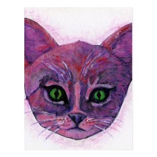 PUrple Kitten Postcard