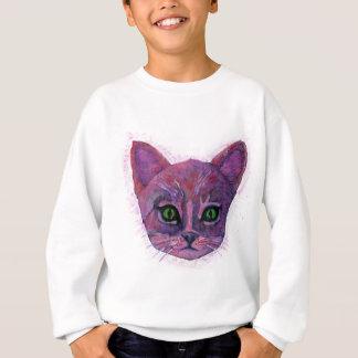PUrple Kitten Sweatshirt