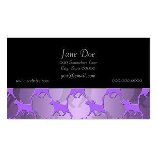 Purple Kitties Pattern Business Card