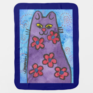 Purple Kitty Baby Blanket