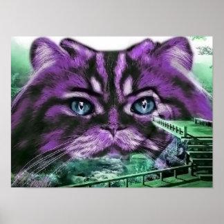 Purple Kitty Print