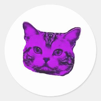 Purple Kitty Stickers