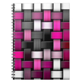 Purple knitted texture notebook