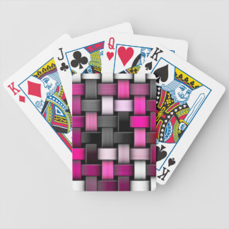 Purple knitted texture poker deck