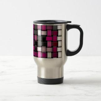 Purple knitted texture travel mug