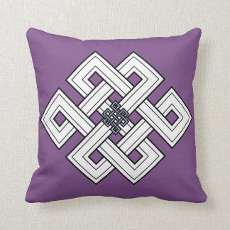 Purple Knot Throw Pillow