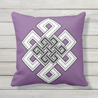 Purple Knot Throw Pillow
