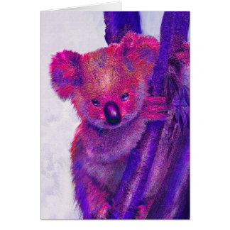 purple koala card