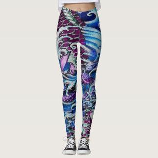 Purple Koi Leggings