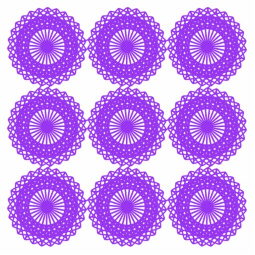 Purple lace design. acrylic cut out