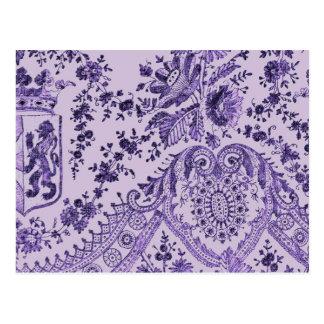 Purple Lace Flowers Postcard