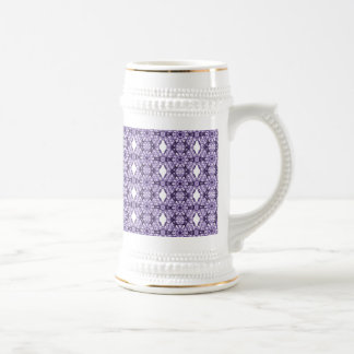 Purple Lace Fractal Pattern Beer Steins