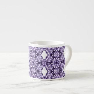 Purple Lace Fractal Pattern Espresso Mug