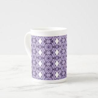 Purple Lace Fractal Pattern Bone China Mug