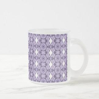 Purple Lace Fractal Pattern Mugs
