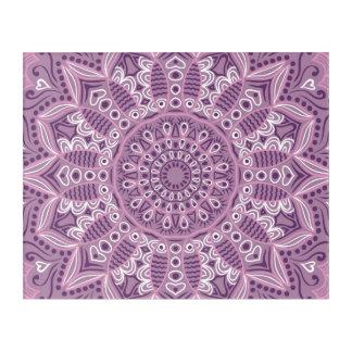 Purple Lace Pattern Acrylic Print