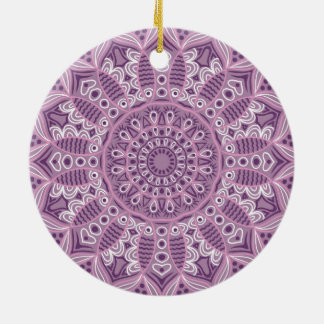 Purple Lace Pattern Ceramic Ornament