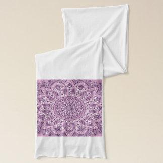 Purple Lace Pattern Scarf