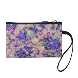 Purple Lace Roses Coin Purse