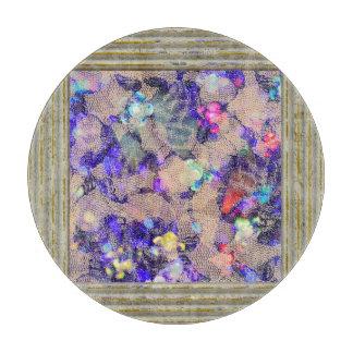 Purple Lace Roses Cutting Board