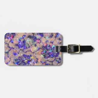 Purple Lace Roses Luggage Tag