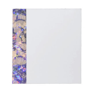Purple Lace Roses Notepad