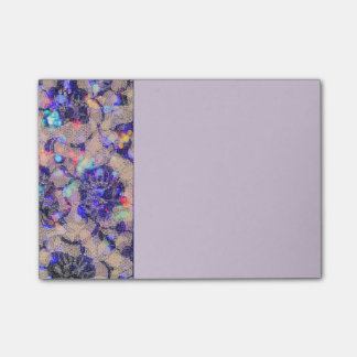 Purple Lace Roses Post-it Notes