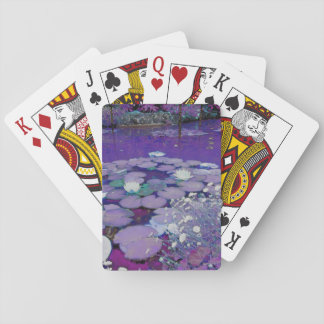 Purple Lake Dreaming Playing Cards