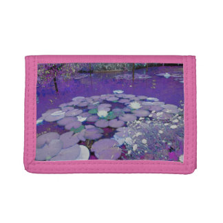 Purple Lake Dreaming Tri-fold Wallets