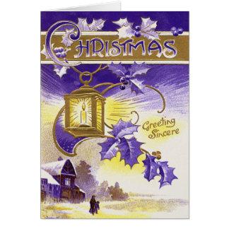 Purple Lantern Greeting Card
