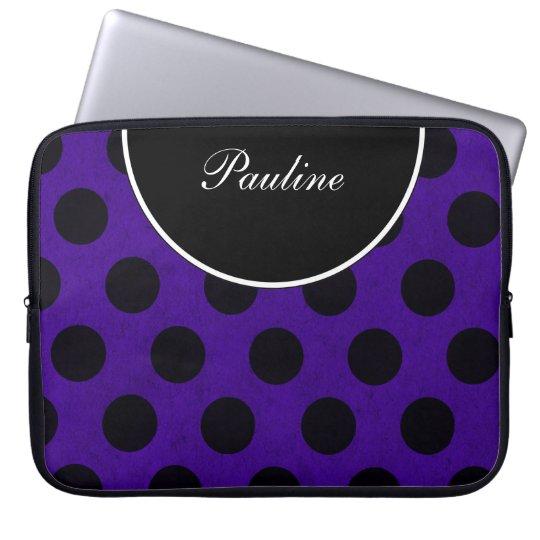 Purple Laptop Monogram Sleeves