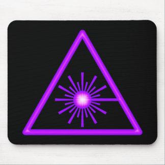 Purple Laser Symbol Mousepad