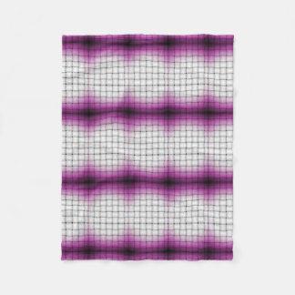 Purple Lattice Fleece Blanket