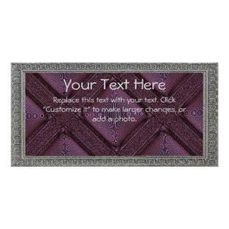 Purple Lattice Photo Card Template