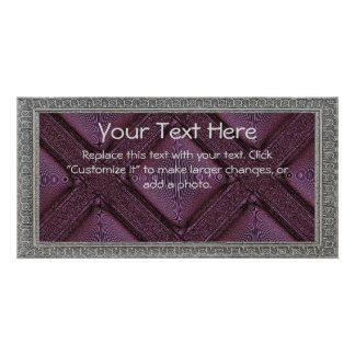 Purple Lattice Picture Card