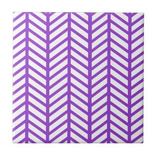 Purple Lattice Stripe Ceramic Tile