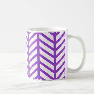 Purple Lattice Stripe Coffee Mug