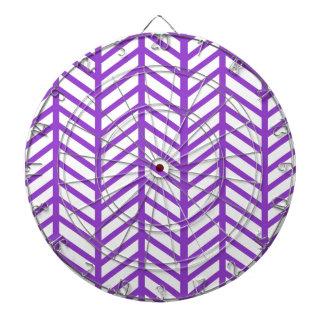 Purple Lattice Stripe Dartboard