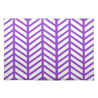Purple Lattice Stripe Placemats