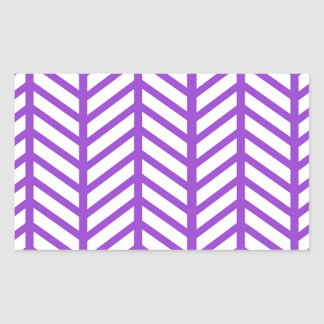 Purple Lattice Stripe Rectangular Sticker