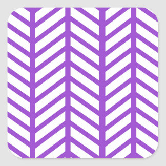 Purple Lattice Stripe Square Sticker