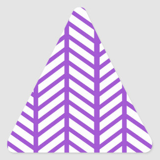 Purple Lattice Stripe Triangle Sticker