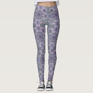 Purple, Lavender and Gray Stars Leggings