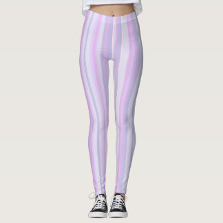 Purple Lavender and Pink Striped Leggings